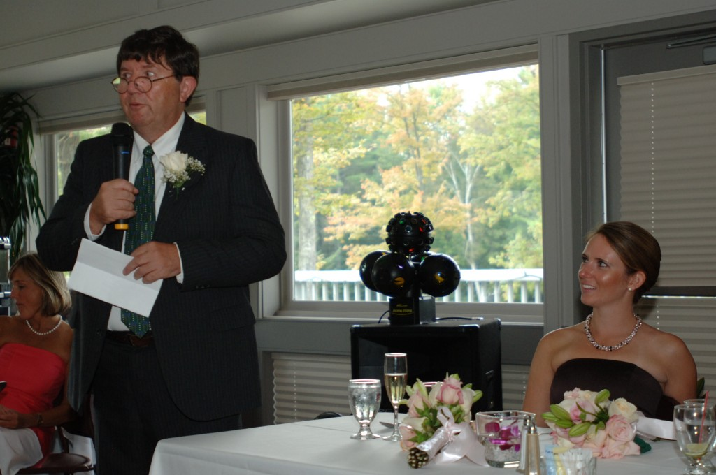 Fred speaks about Tennis as Love at Wedding