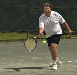 Fred playing in Upper Valley 2008 Men's Team Championships