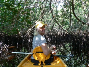 Milly padding in everglades December 2008