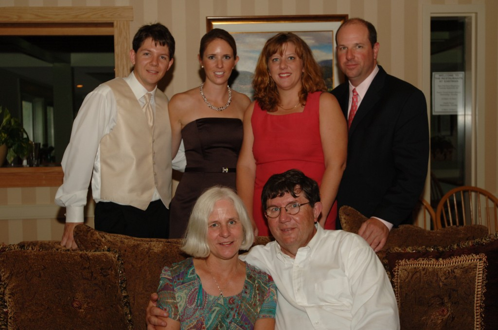 Left to right, Alex, Kimberly, Colleen, Craig at Sept, 2006 Wedding - Seated are Milly and Fred